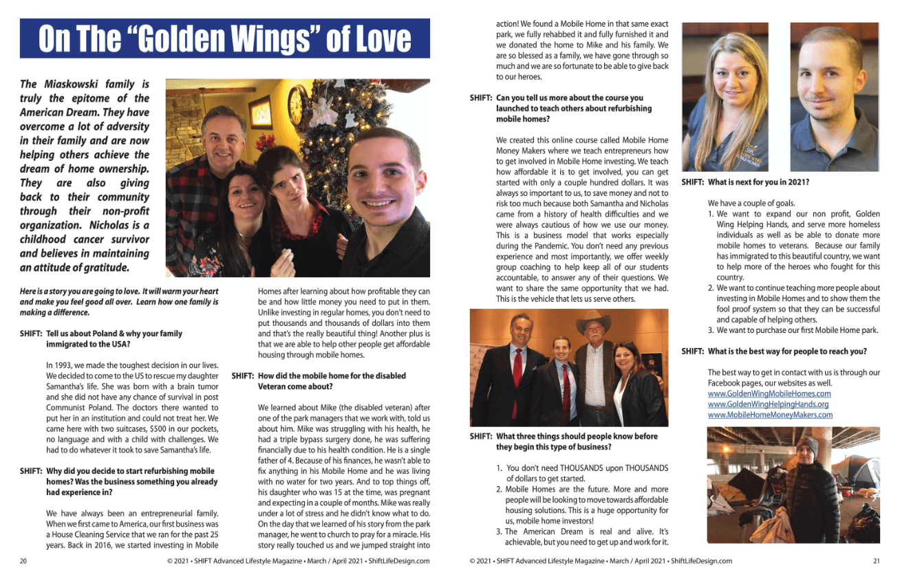 Shift Magazine Article Golden Wing